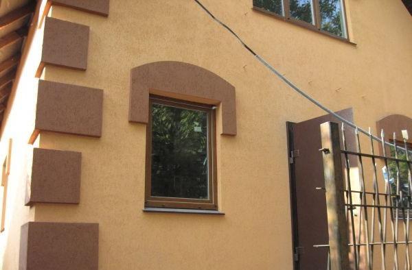 Фасад дома фото частных домов штукатурка короед