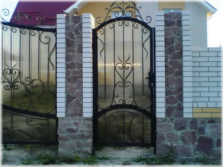 Ворота металлические своими руками