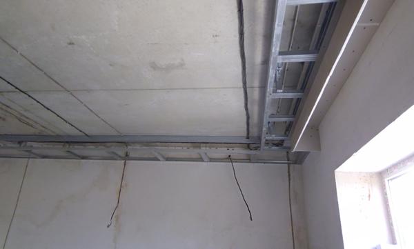 Как сделать нишу на потолок из гипсокартона