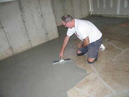 Наливной пол своими руками в гараже