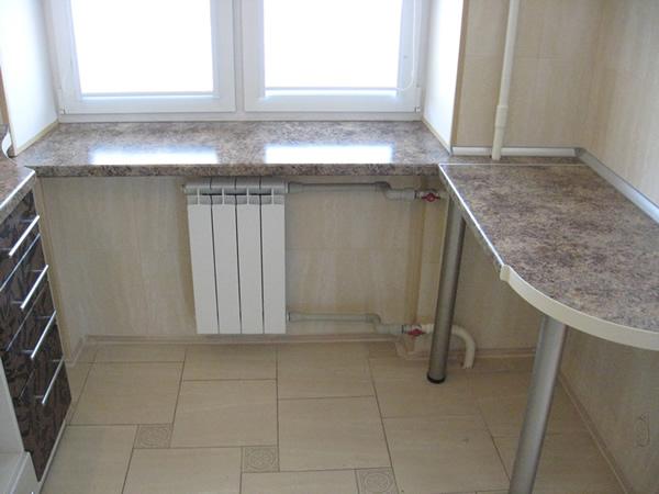 фото кухня подоконник-стол