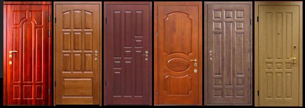 Отделка двери панелями мдф